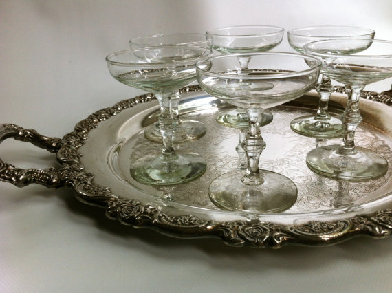 vintage champagne coupe glasses