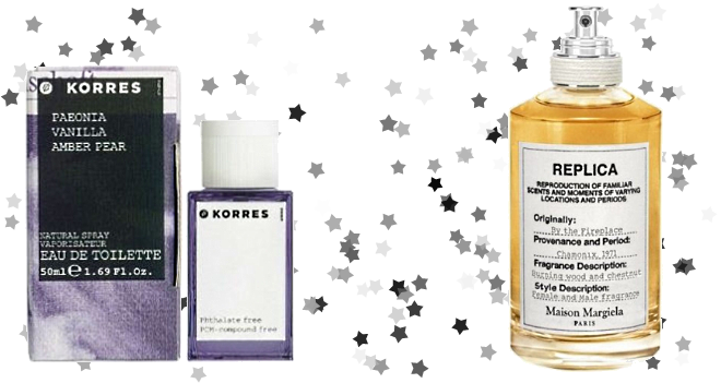 korres paeonia vanilla amber pear margiela by the fireplace